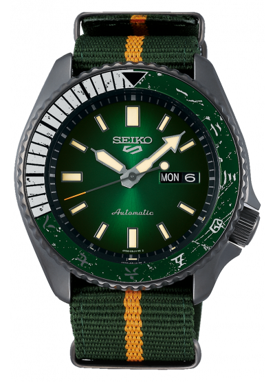 "Seiko 5 Sports x Naruto Limited Edition SRPF73K1 ""Rock Lee"""
